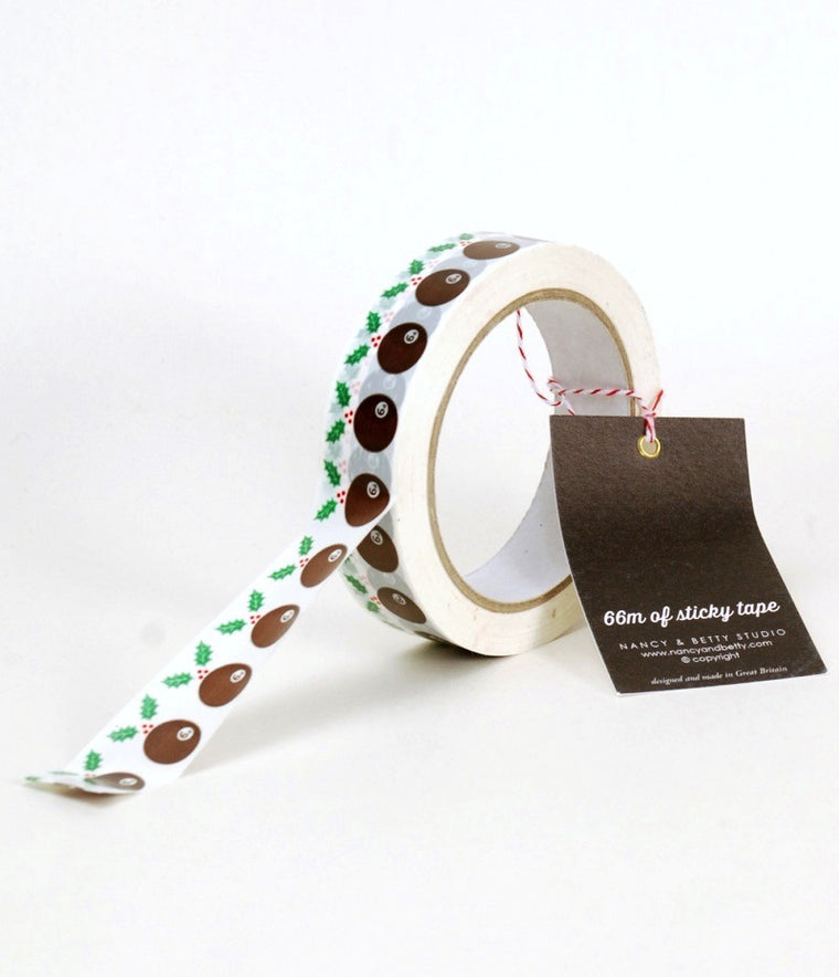 NANCY AND BETTY Christmas pudding tape