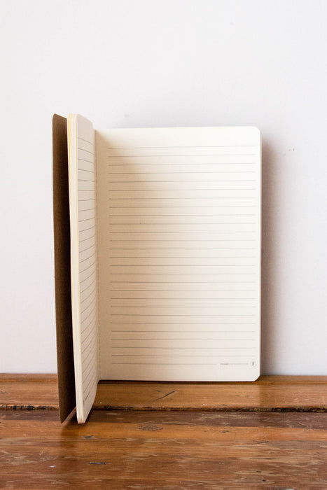FRANK Stationery A4 Kraft Notebook- LINED