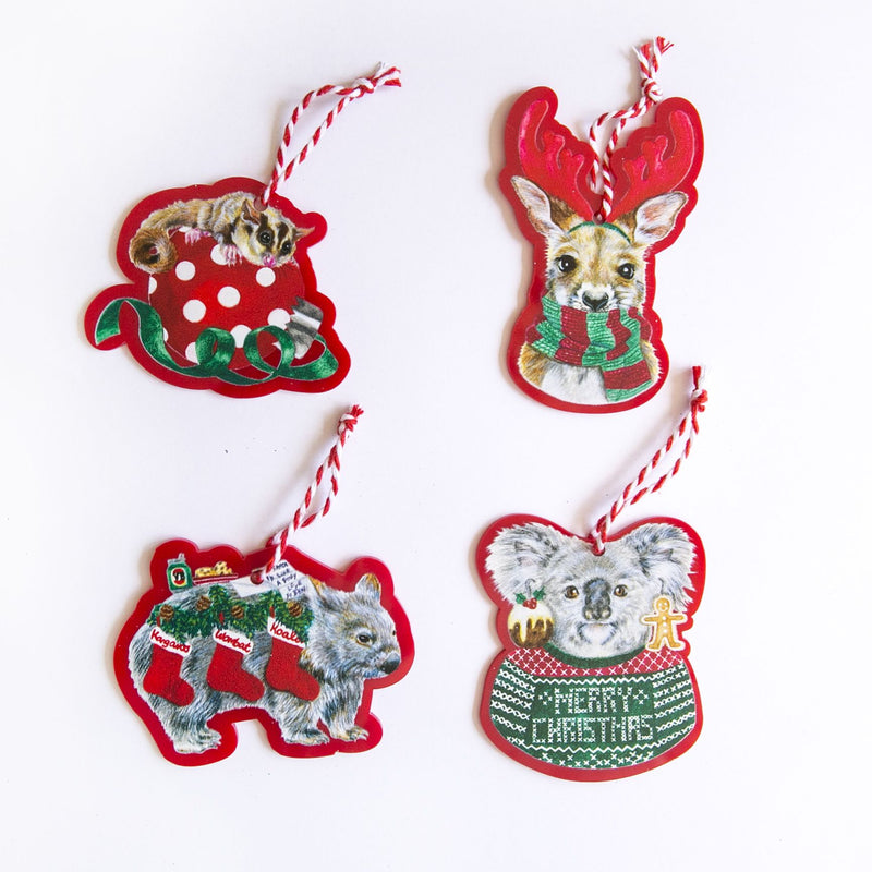 LALALAND- Christmas Ornament set-Aussie Christmas Critters