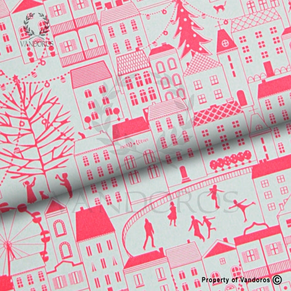VANDOROS Neon Xmas collection-Christmas City Neon Pink