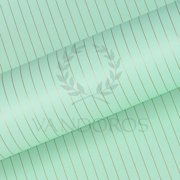 VANDOROS Pinstripe pastel collection-Mint/Gold