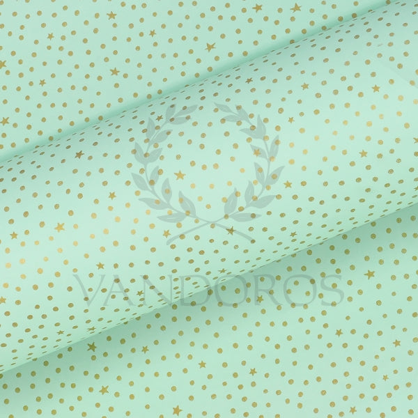 VANDOROS Pinstripe pastel collection- Starry night, Mint/Gold