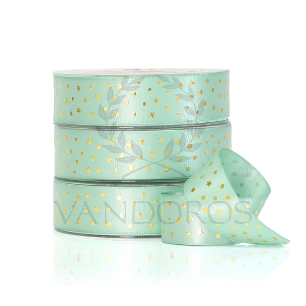VANDOROS Foil Satin Pastel- Starry night, MINT