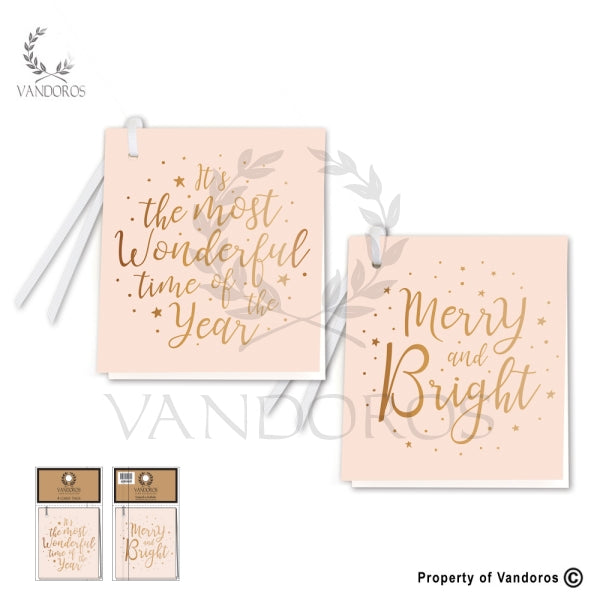 VANDOROS Gift Tags Champagne/copper set of 4