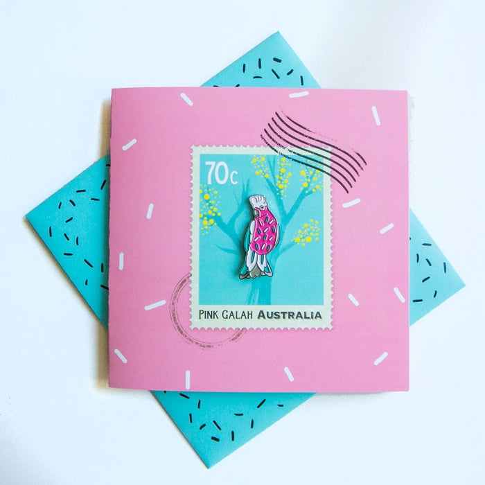 LA LA LAND- Sprinkly Galah (PG) Pin Card