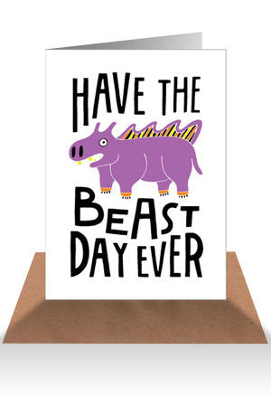 AHD Beast day ever card