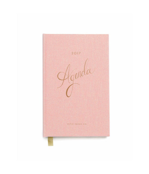 RIFLE PAPER CO. 2017 Hard Cover Planner-Blush