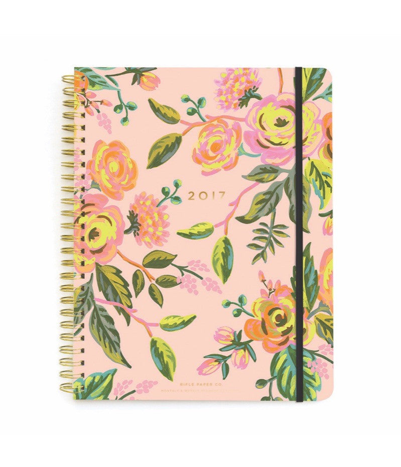 RIFLE PAPER CO. 2017 Spiral bound Planner-Jardin de Paris
