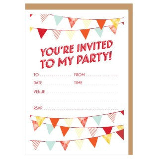CANDELBARK Red Flag Invitations