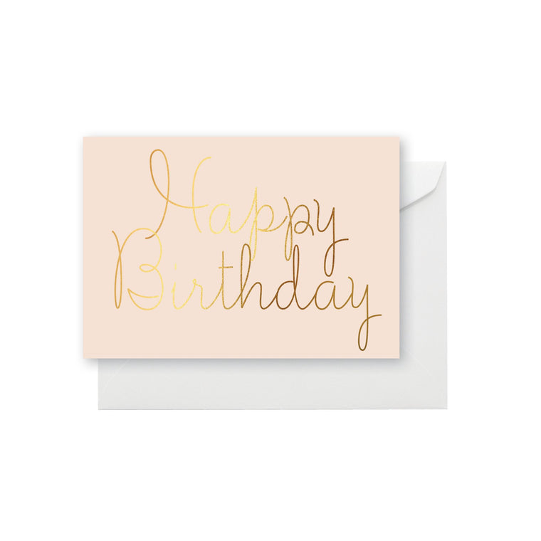 ELM PAPER-Happy birthday blush card