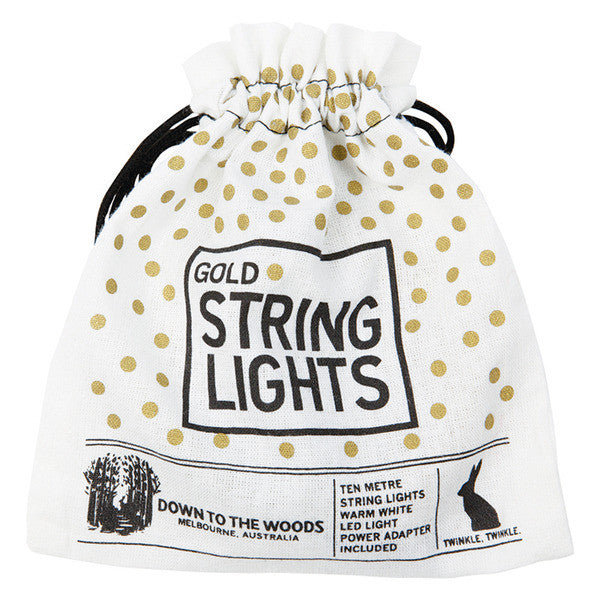 DOWN TO THE WOODS String lights GOLD Plug in 10 Metres