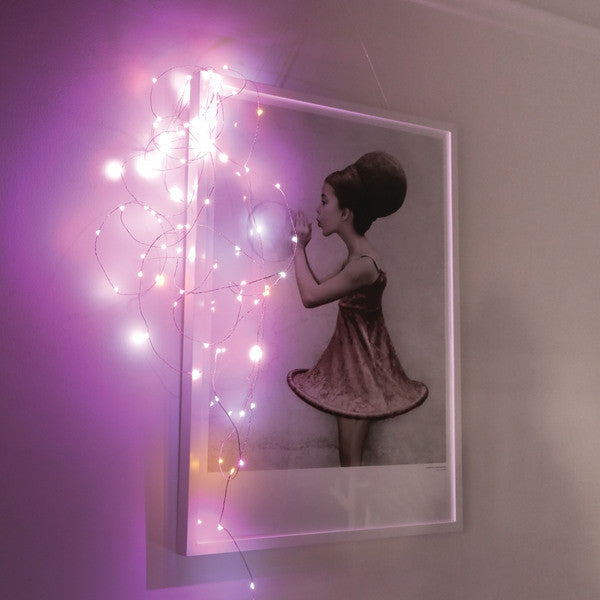 DOWN TO THE WOODS String lights PINK Plug in 10 Metres