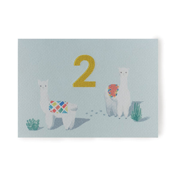 DOWN TO THE WOODS Embroidered Card Alpaca-two