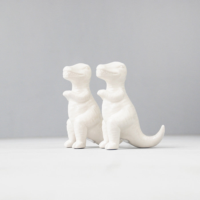 WHITEMOOSE T-rex Salt and Pepper Shakers