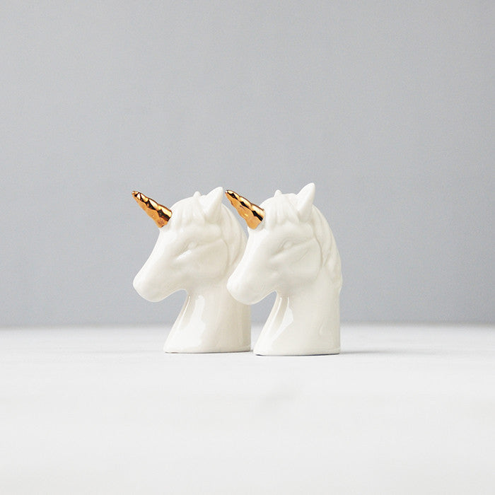 WHITEMOOSE Unicorn Salt and Pepper Shakers
