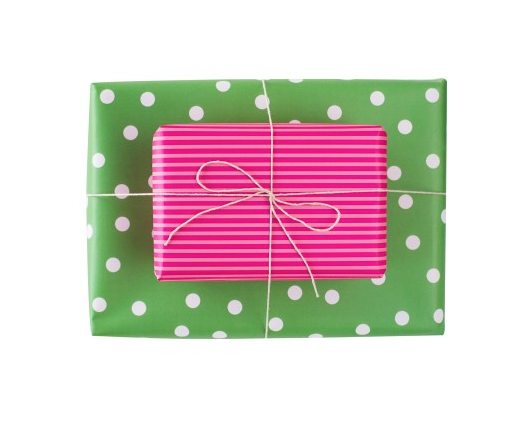 Blushing Confetti Double Sided Gift Wrap – Sour Gumdrops