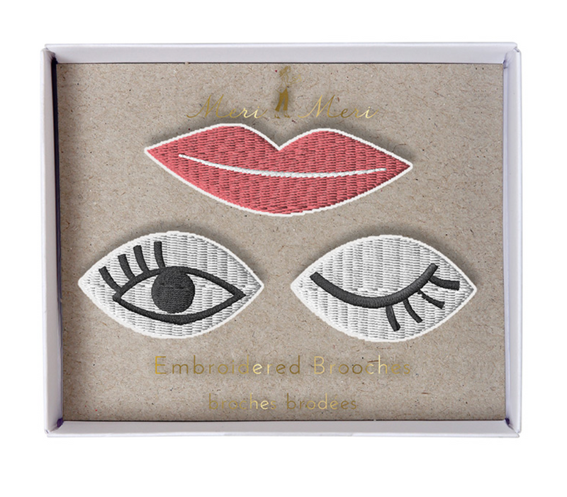 MERI MERI Brooches -eyes & Lips