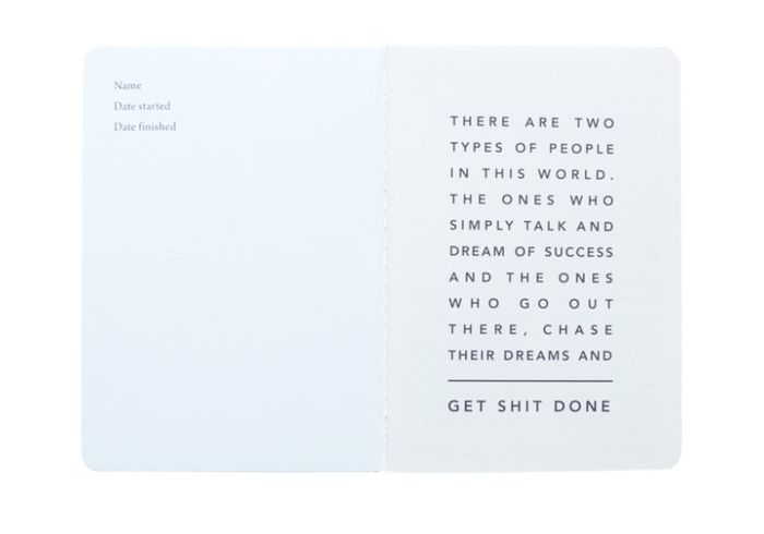 MI GOALS Get Shit Done Minimal Notebook-Mint - Minimal Mint