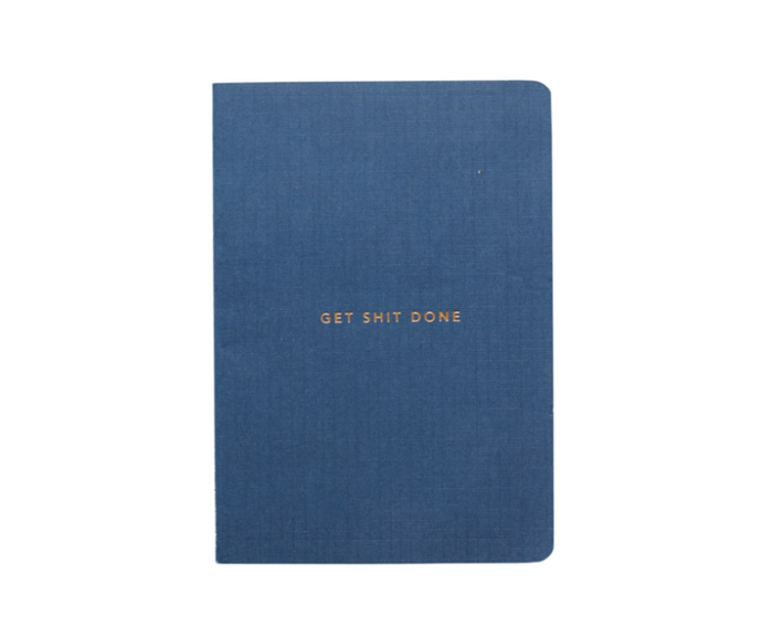 MI GOALS Get Shit Done Minimal Notebook-Navy - Minimal Navy