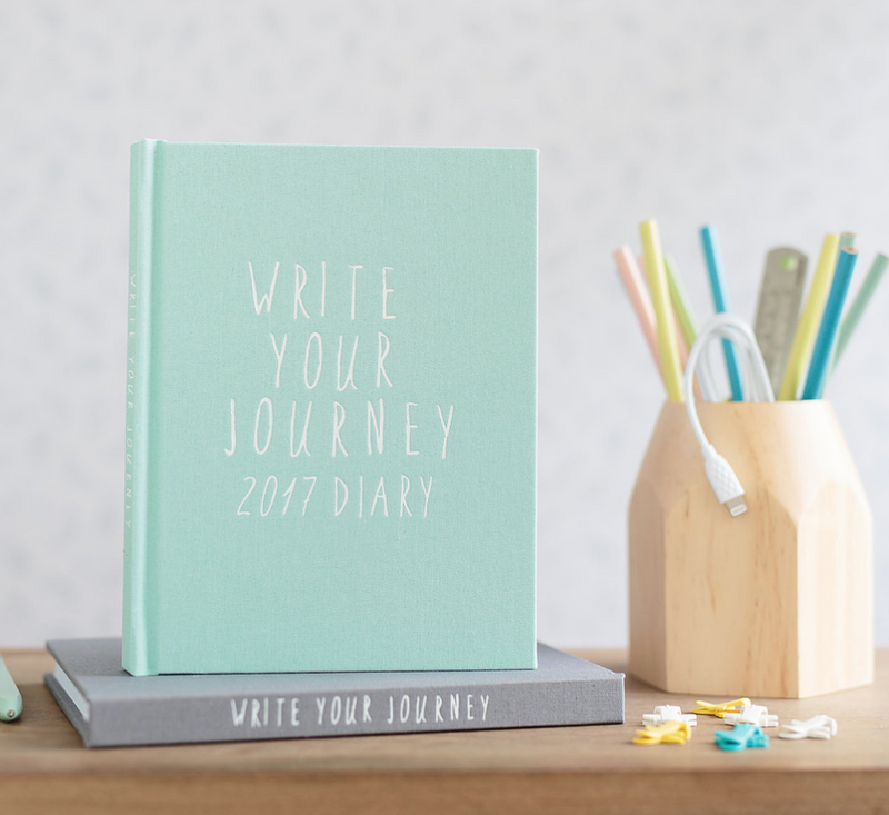 WRITE TO ME Mint Diary 2017