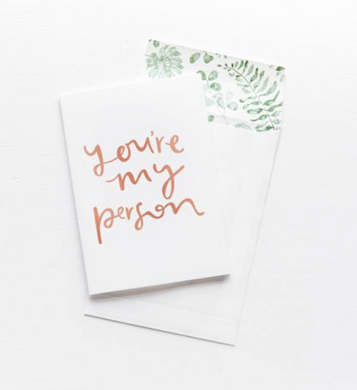 EMMA KATE CO You're My Person  - Greeting Card