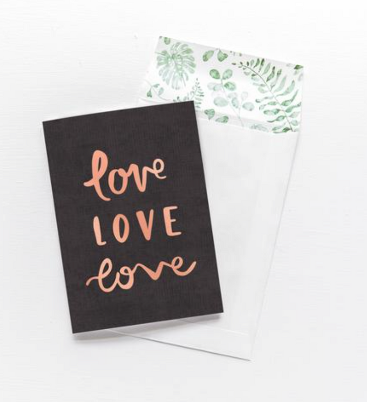 EMMA KATE CO Love Love Love - Greeting Card