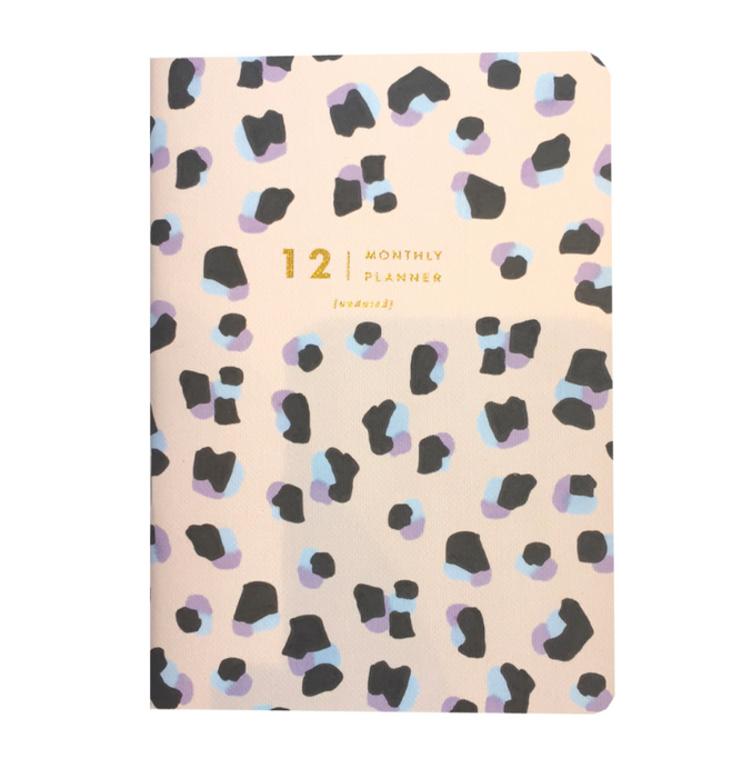 AMELIA LANE PAPER Monthly Planner-Undated Leopard Print