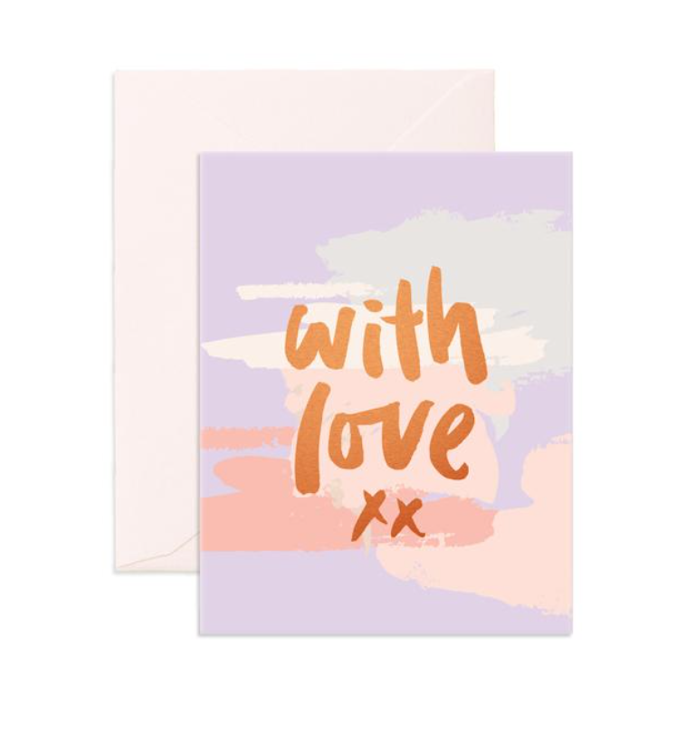 Fox & Fallow With Love Clouds Greeting Card