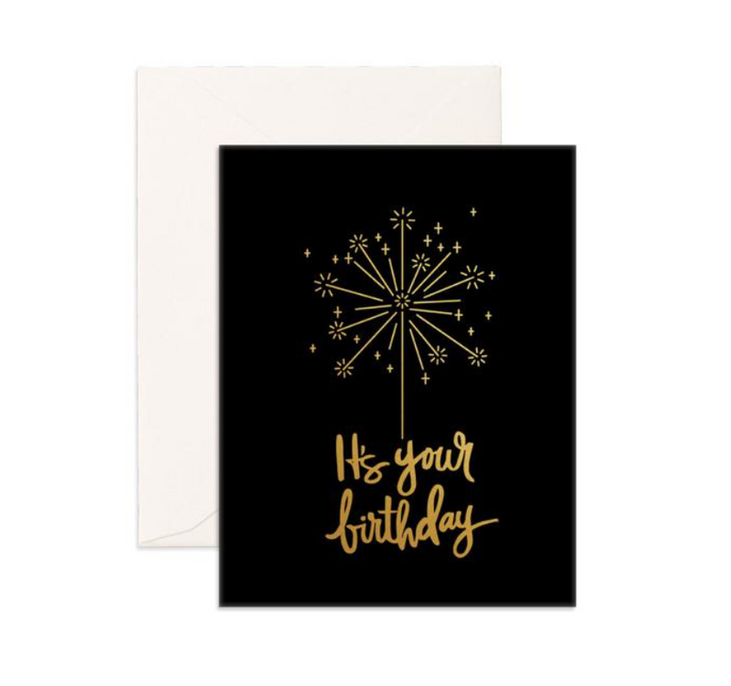 Fox & Fallow Birthday Sparkler Greeting Card