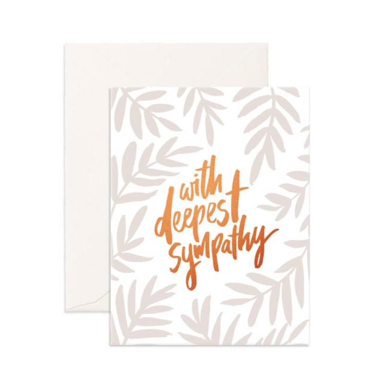 Fox & Fallow Deepest Sympathy Greeting Card