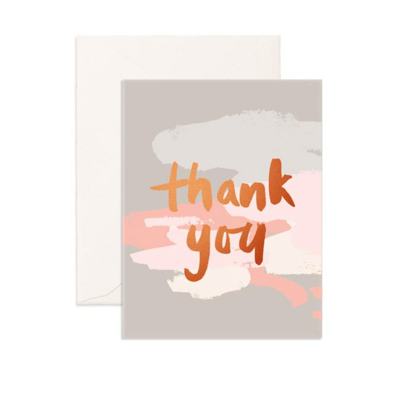 Fox & Fallow Thank You Clouds Greeting Card