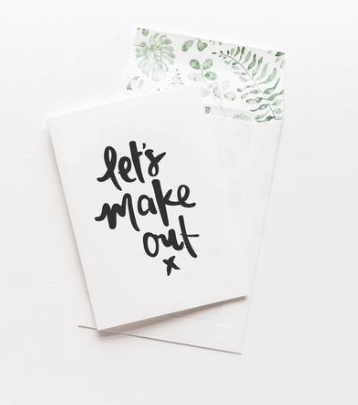 EMMA KATE CO Let's Make Out Greeting Card