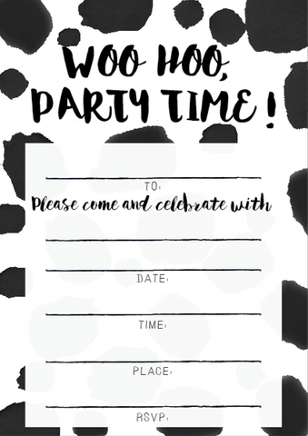 LITTLE PAPER LANE DIY Invitations-Woo Hoo, Party Time!