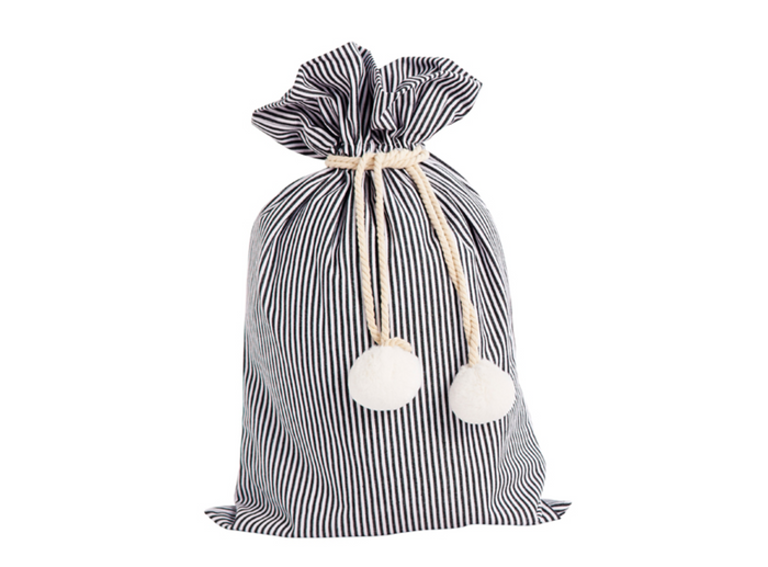 SACK ME Swag Sack-Black and white pinstripe
