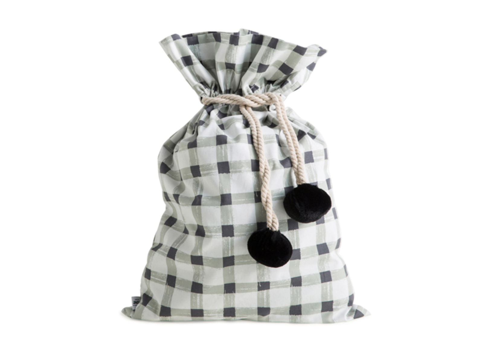 SACK ME Swag Sack-Grey Gingham