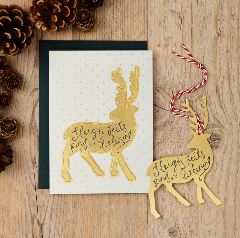 KATIE LEAMON Single Pop-Out Card - Reindeer