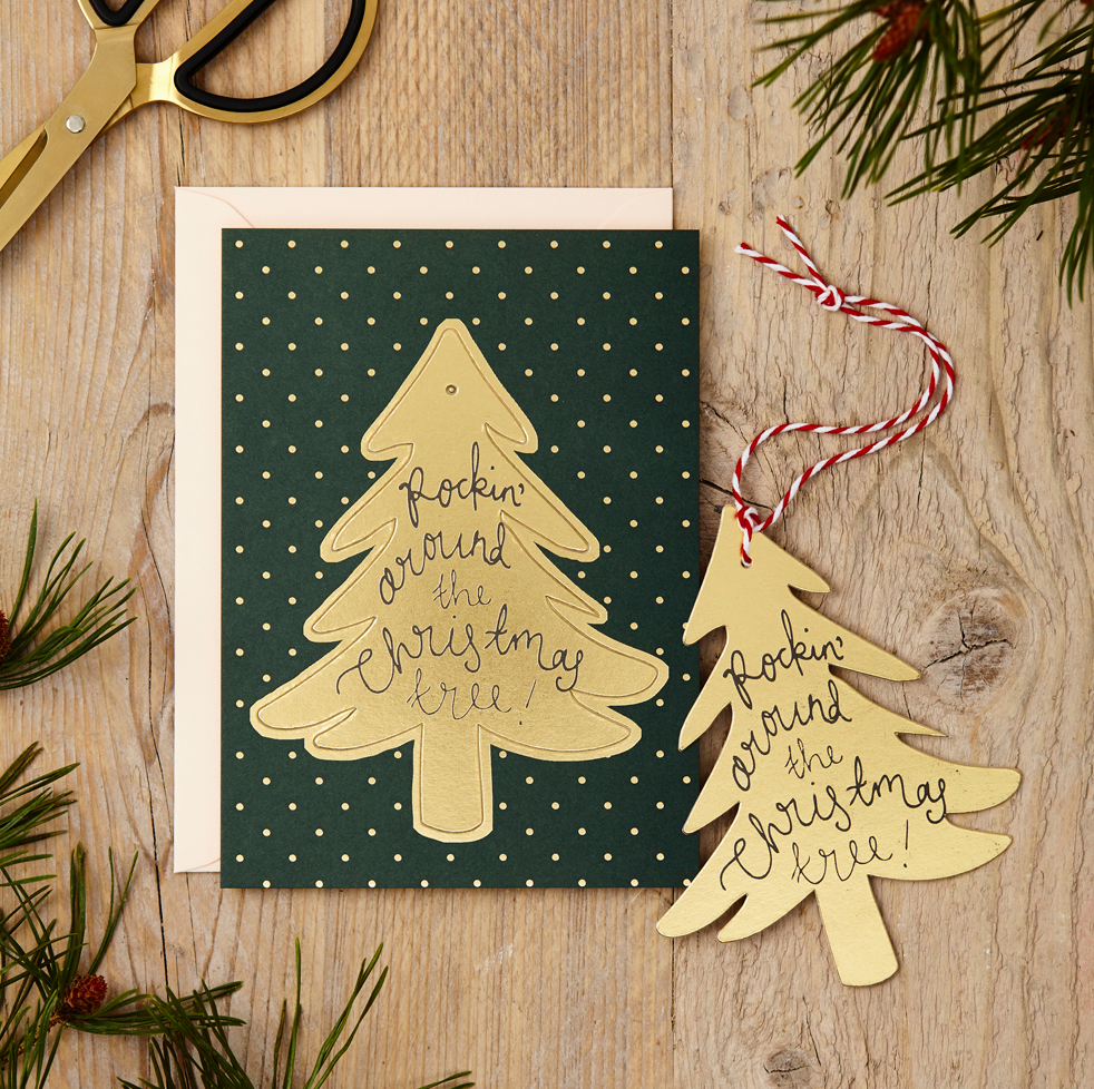 KATIE LEAMON Single Pop-Out Card - Christmas Tree