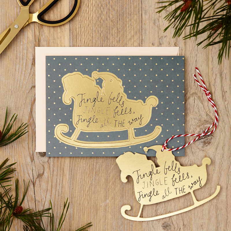 KATIE LEAMON Single Pop-Out Card - Sleigh