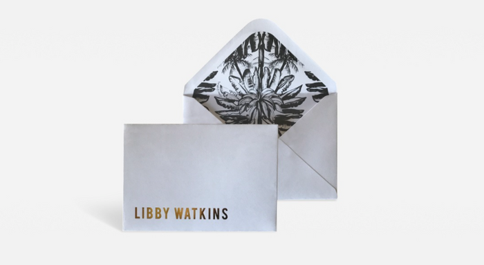 LIBBY WATKINS Christmas card-Eat Drink and Merry