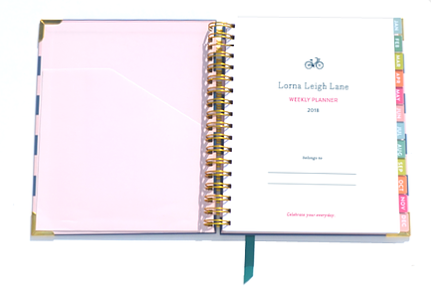 Lorna Leigh Lane 2018 Weekly Planner for Australian women