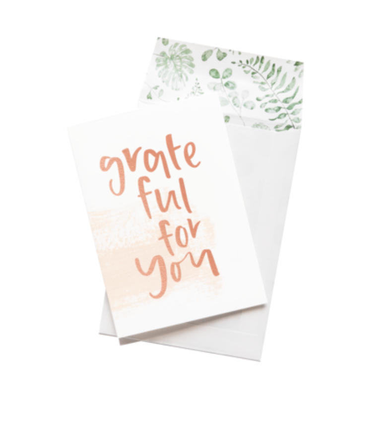 EMMA KATE CO Grateful for you Greeting Card