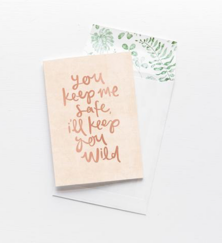 EMMA KATE CO You keep me safe Greeting Card