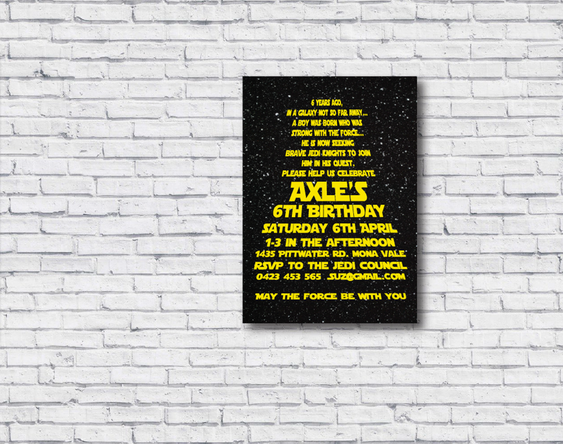 Star Wars Printable Birthday Invitation