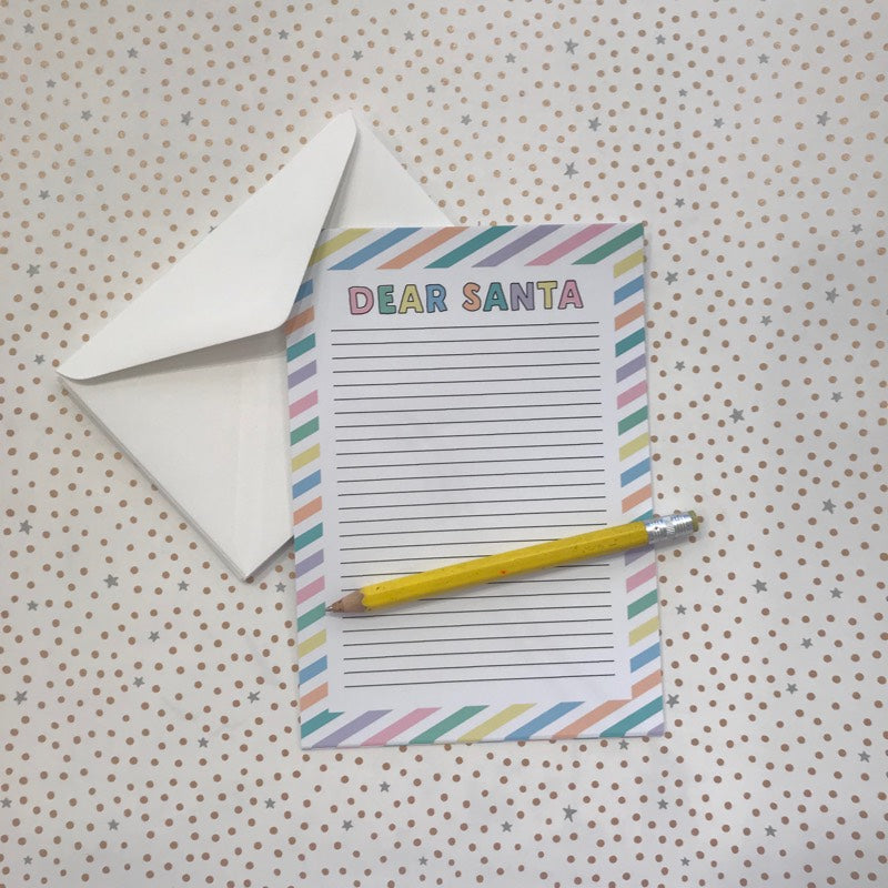 LITTLE PAPER LANE Dear Santa Letterset- pastel