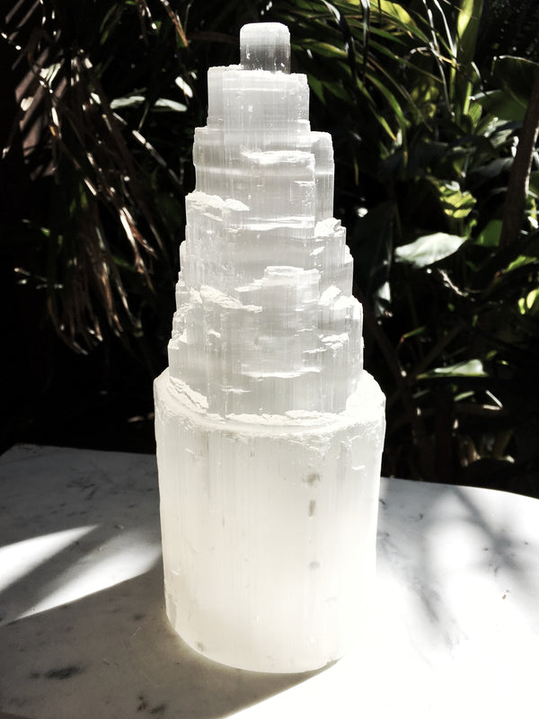 LITTLE PAPER LANE Crystals- 1 x selenite castle extra large $45(23-27cm)