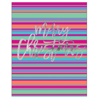CANDLEBARK Stripey Christmas card set of 10