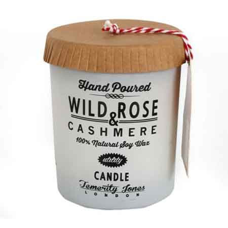 UTILITY Hand Poured Soy wax candle-Wild Rose & Cashmere