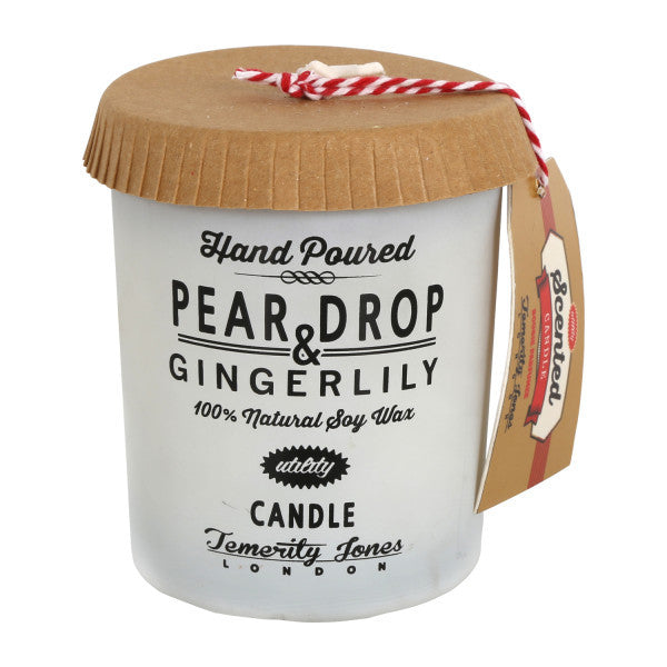 UTILITY Hand Poured Soy wax candle-Pear Drop and gingerlily