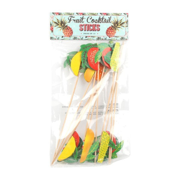 TEMERITY JONES Summer Festival - Fruit Cocktail Sticks - Pk12