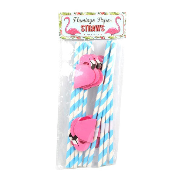 TEMERITY JONES Summer Festival - Flamingo party straws- Pk12